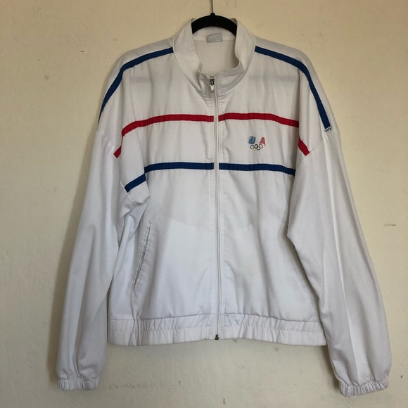 Vintage Levi's white USA Olympic Jacket XL